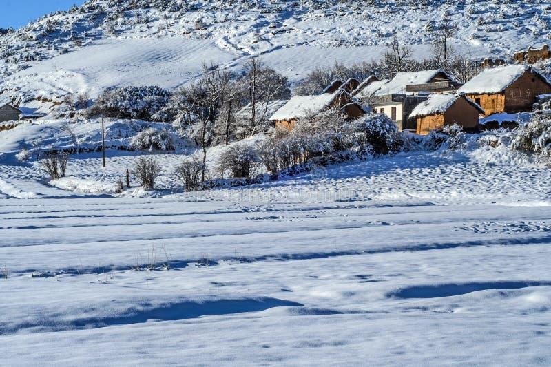 Деревня снега стоковые фото