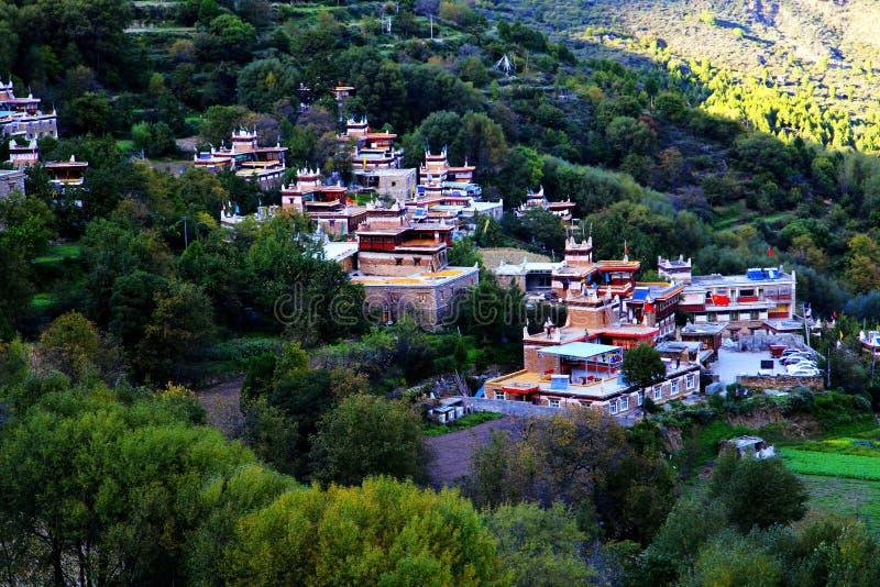 Деревня тибетца Danba Jiaju стоковые фото