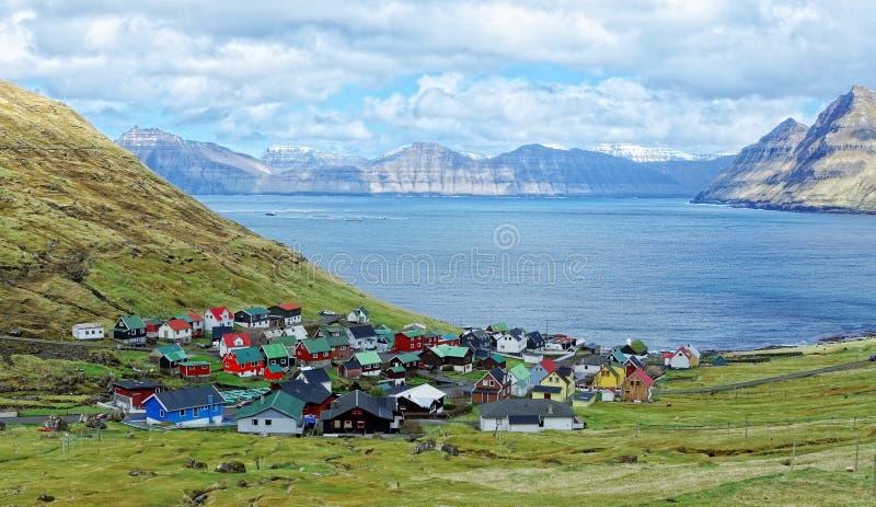 Деревня Фарерских островов стоковая фотография rf