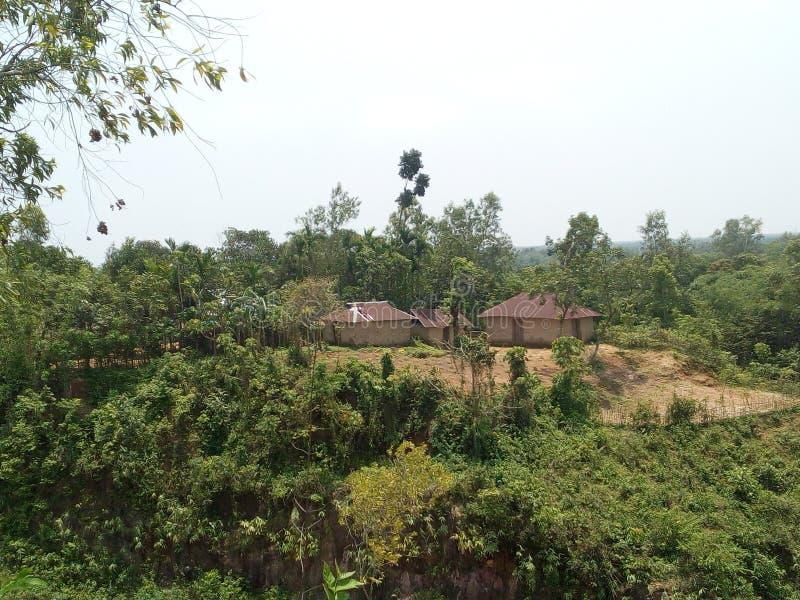 Деревня холма стоковое фото