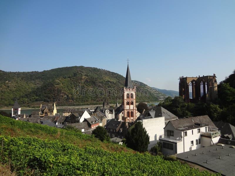 Деревня Bacharach стоковое изображение rf