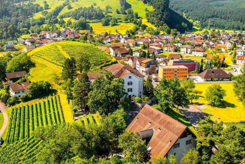 Деревня Balzers в Лихтенштейне стоковая фотография