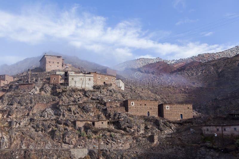 Деревня Berber в атласе. Марокко стоковое изображение