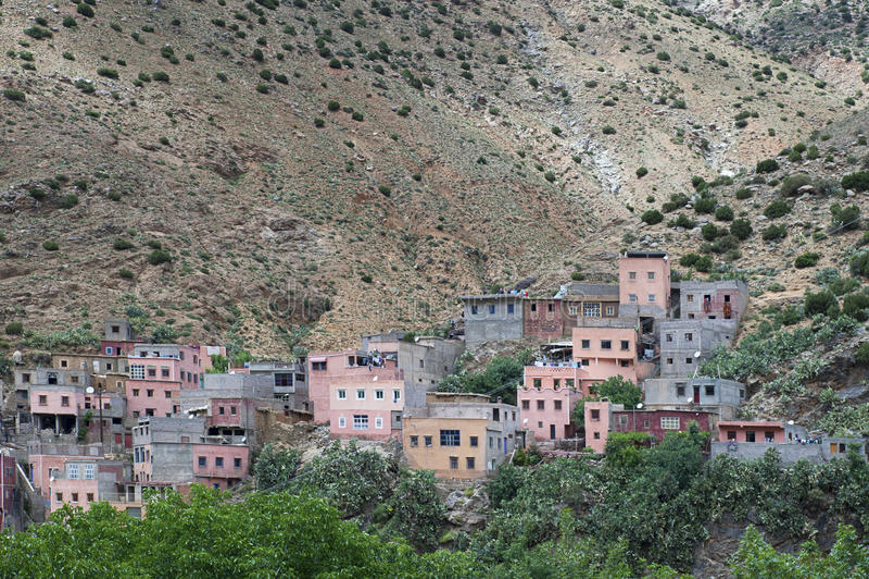 Деревня Berber Setti Fatma, гор атласа, Марокко стоковая фотография