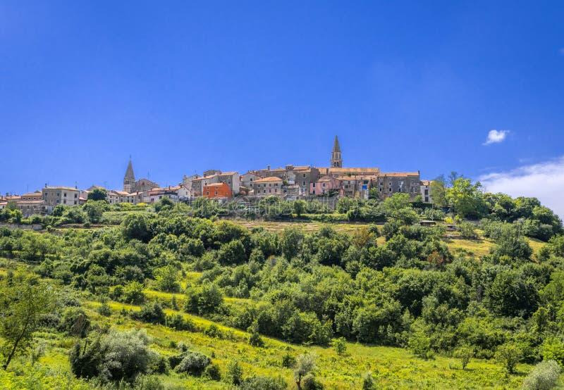 Деревня Buje в Istria, Хорватии стоковая фотография