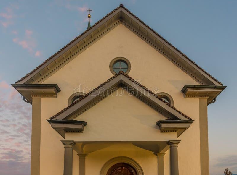 Деревня Busskirch & x28; Kirchdorf& x29; церковь в Rapperswil-Jona, St Gal стоковая фотография