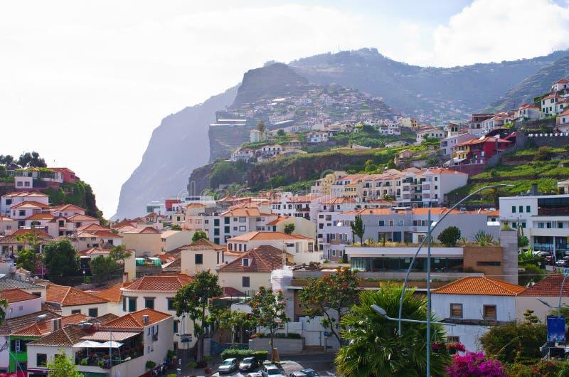 Деревня Camara de Lobos - остров Мадейры, Португалия стоковые изображения rf