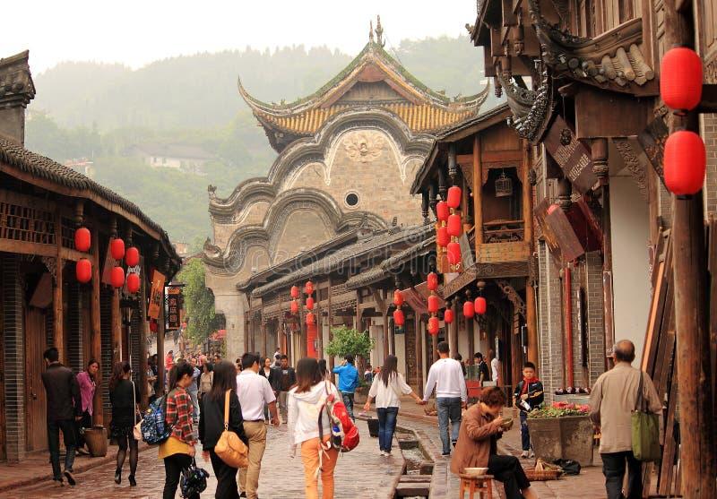 Деревня Chendu Китай Luodai стоковые изображения