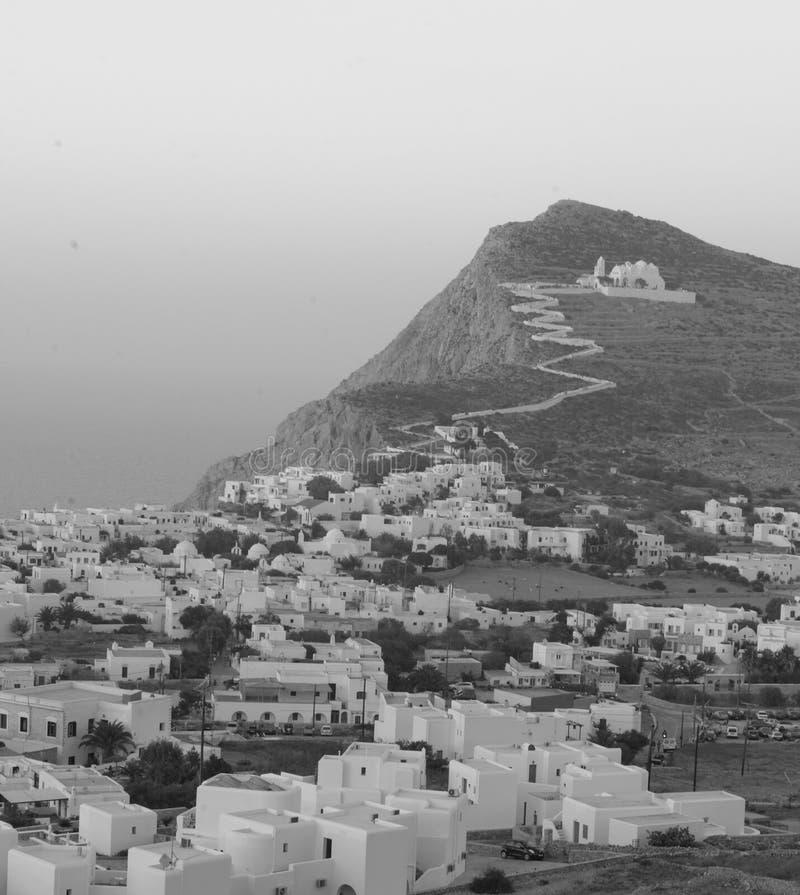 Деревня Chora на Folegandros стоковые изображения rf