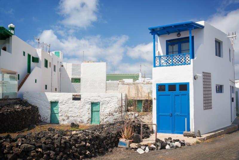 Деревня El Golfo в Лансароте, Канарских островах Испании стоковое фото rf