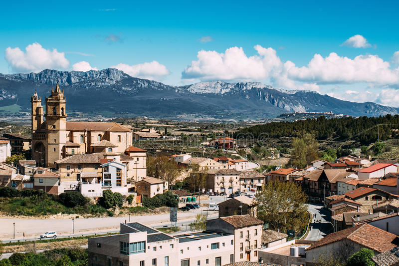 Деревня Elciego, Испания стоковая фотография