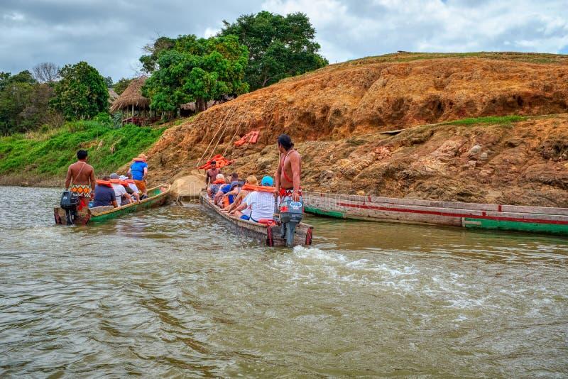Деревня Embera, Chagres, Панама стоковое изображение rf