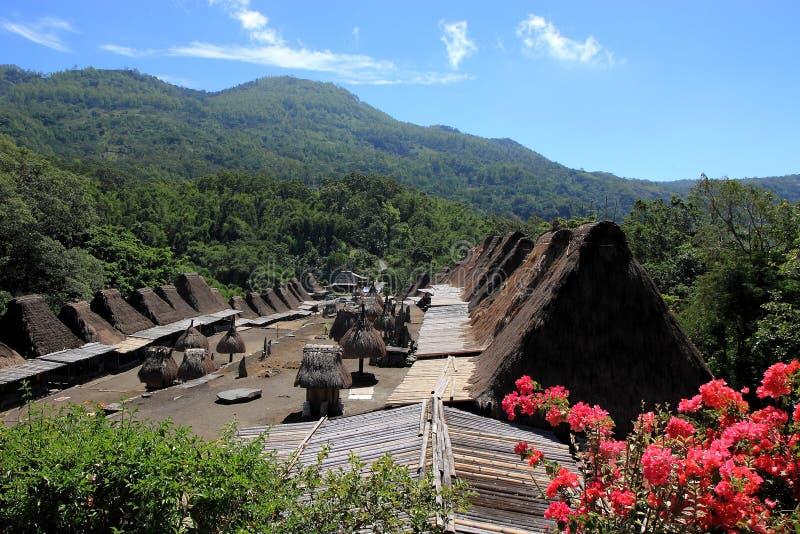 Деревня Flores Индонезия Bena традиционная стоковые фотографии rf