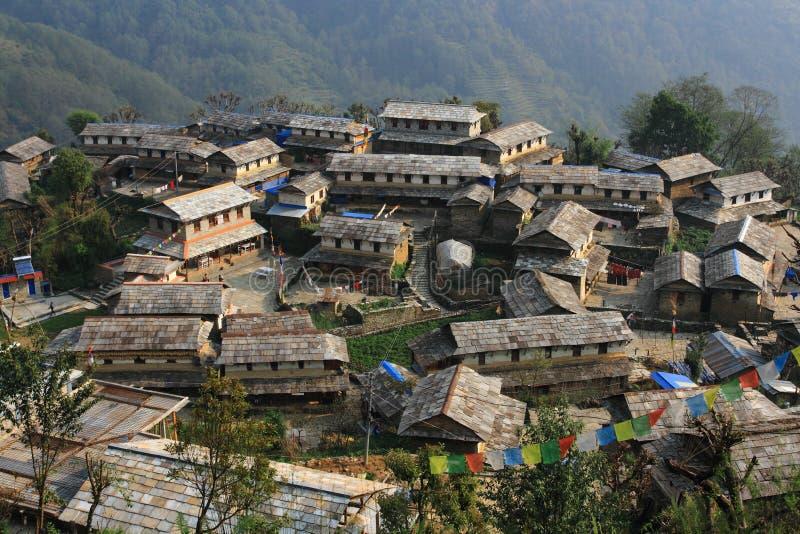 Деревня Ghandruk стоковое изображение rf