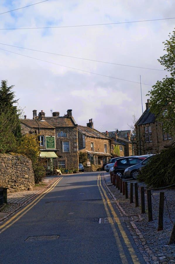 Деревня Grassington в участках земли и Linton Йоркшира падает стоковые фото