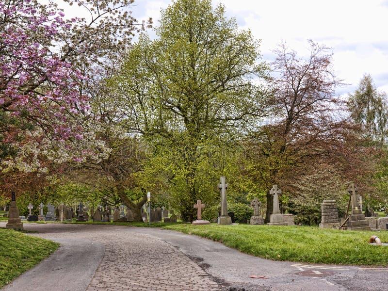 Деревня Grassington в участках земли и Linton Йоркшира падает стоковое изображение