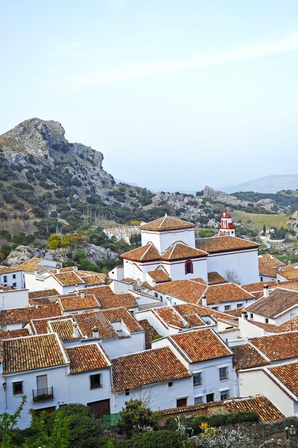 Деревня Grazalema, белых деревень провинции Кадиса, Испании стоковое изображение