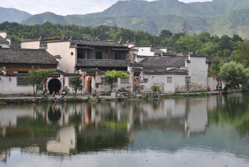 Деревня Hongcun в Аньхое, Китае стоковое изображение