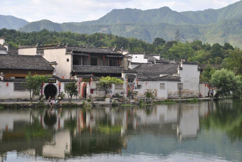 Деревня Hongcun в Аньхое, Китае стоковая фотография