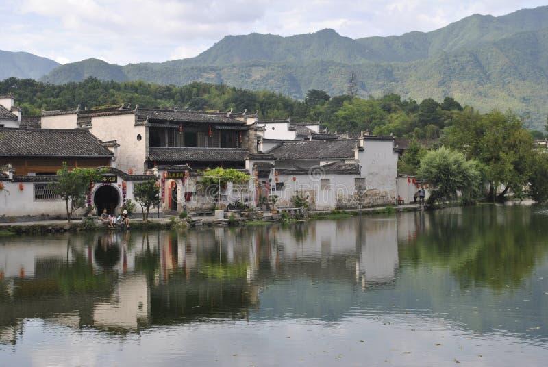 Деревня Hongcun в Аньхое, Китае стоковое фото