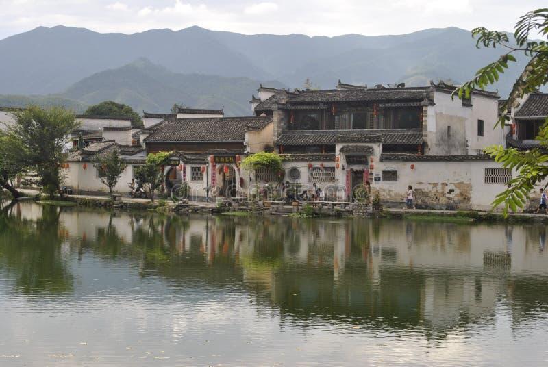 Деревня Hongcun в Аньхое, Китае стоковые фото