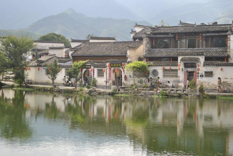 Деревня Hongcun в Аньхое, Китае стоковые фотографии rf