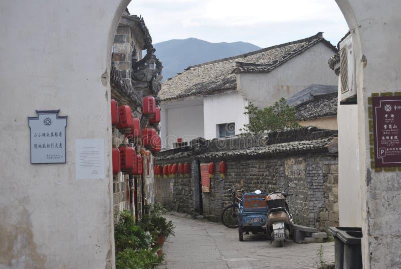 Деревня Hongcun в Аньхое, Китае стоковое фото rf
