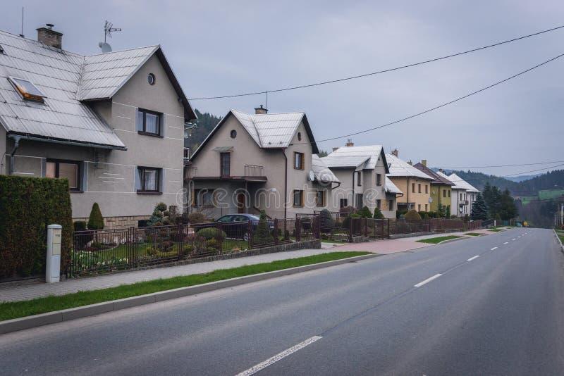 Деревня Hutisko Solanec стоковое фото
