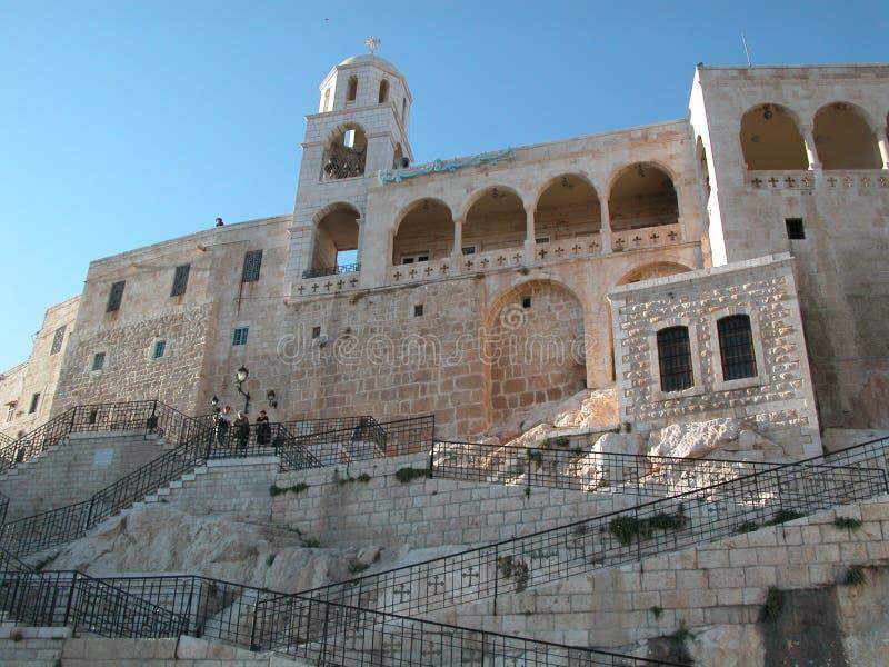Деревня Maalula, Сирии, монастыря и Кристиана Дамаск, 2004 стоковые изображения