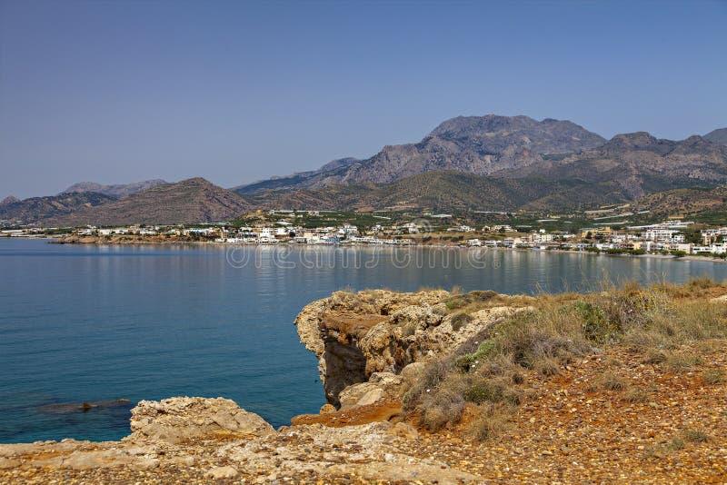 Деревня Makrigialos Крита стоковое изображение rf