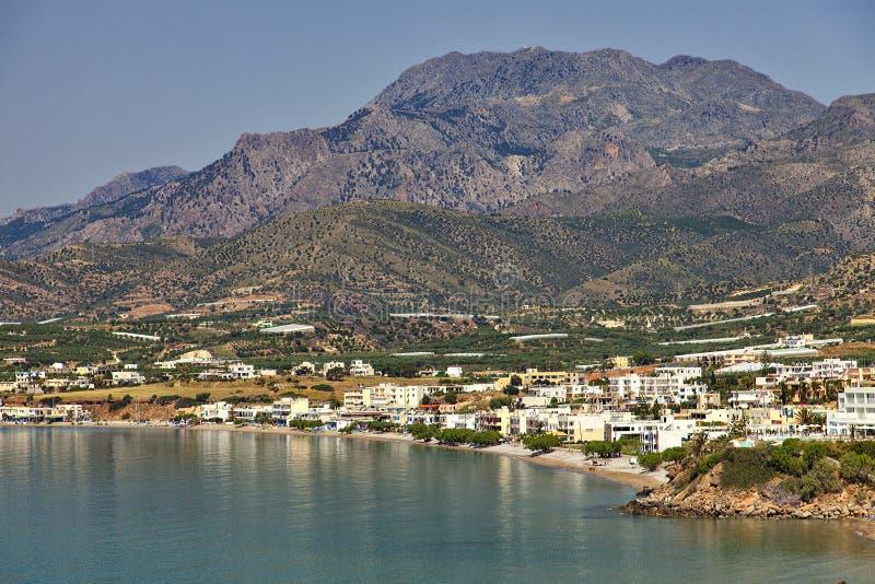 Деревня Makrigialos на Крите стоковая фотография rf