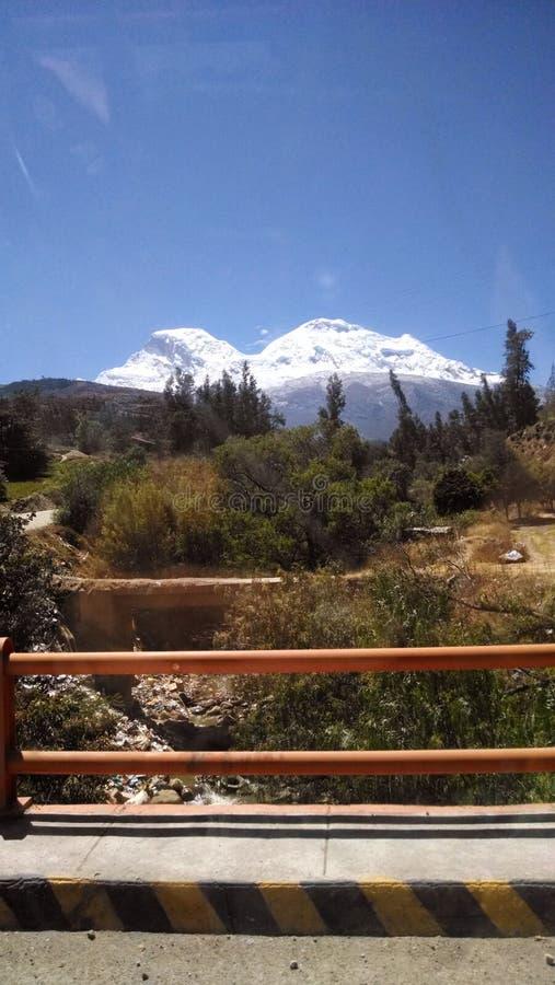 Деревня mancos в huaraz Перу стоковые изображения rf