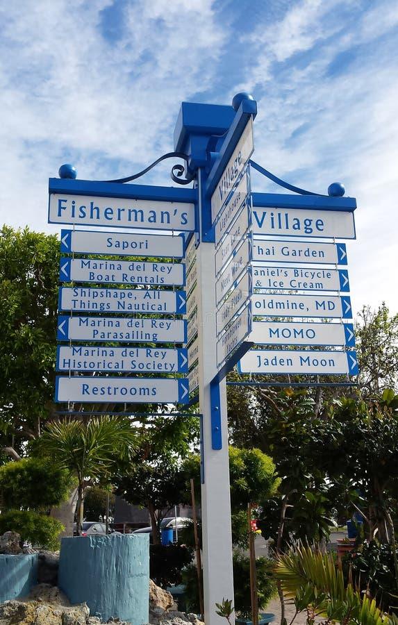 Деревня Marina del Rey Калифорния ` s рыболова стоковые изображения rf