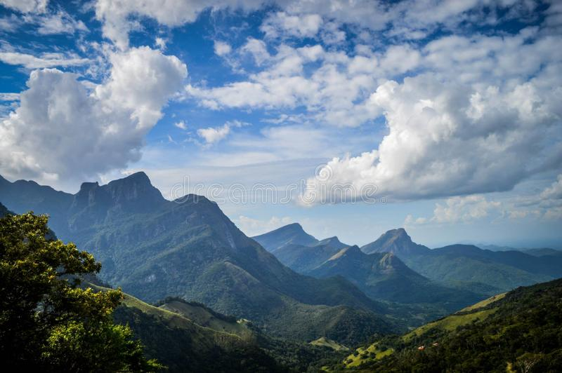 Деревня Meemure гор, Шри-Ланка стоковое изображение rf