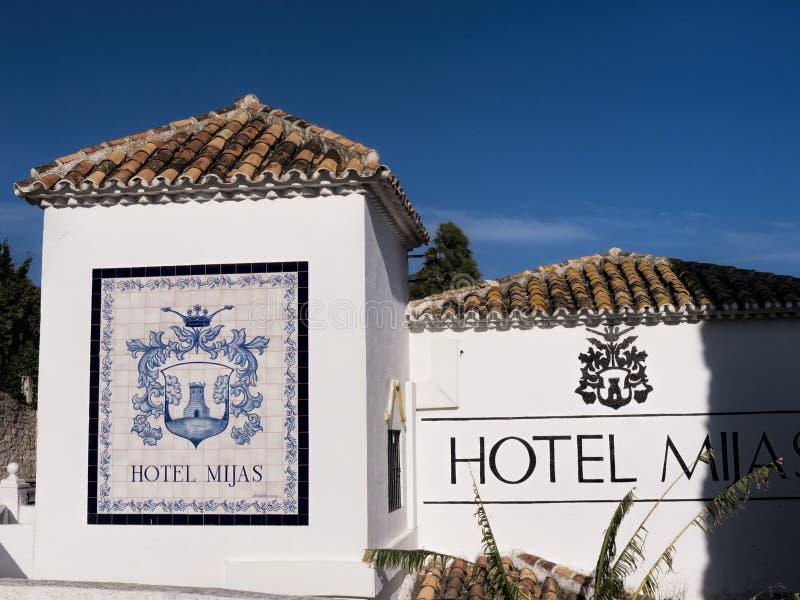 Деревня Mijas на Косте del Sol Испании стоковые изображения rf