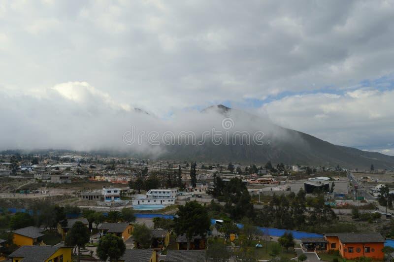 Деревня Mitad del mundo, линия эквадора стоковые фото