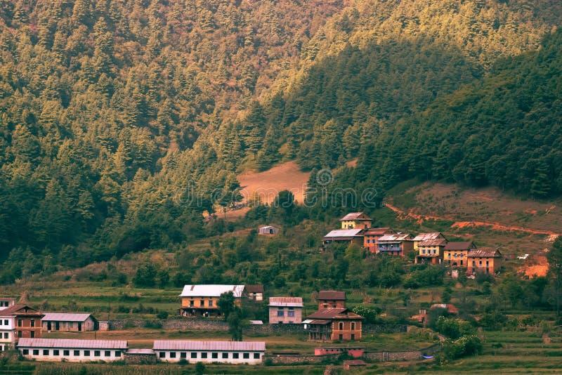 Деревня Nepales! стоковое фото rf