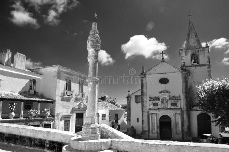 Деревня Obidos, Португалии стоковая фотография rf