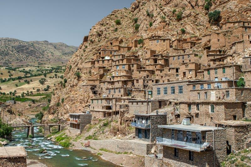 Деревня Palangan в Курдистане Иран стоковое изображение