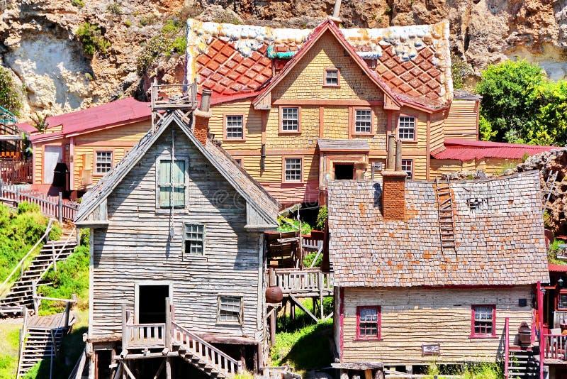 Деревня Popeye в Мальте стоковое фото rf