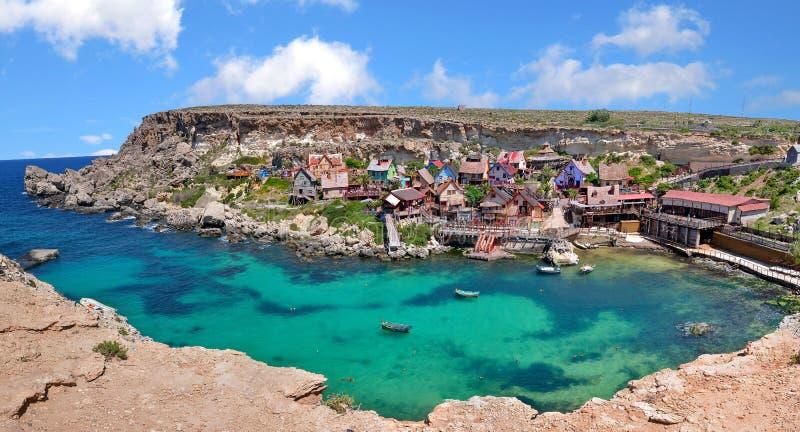 Деревня Popeye в Мальте стоковые фото
