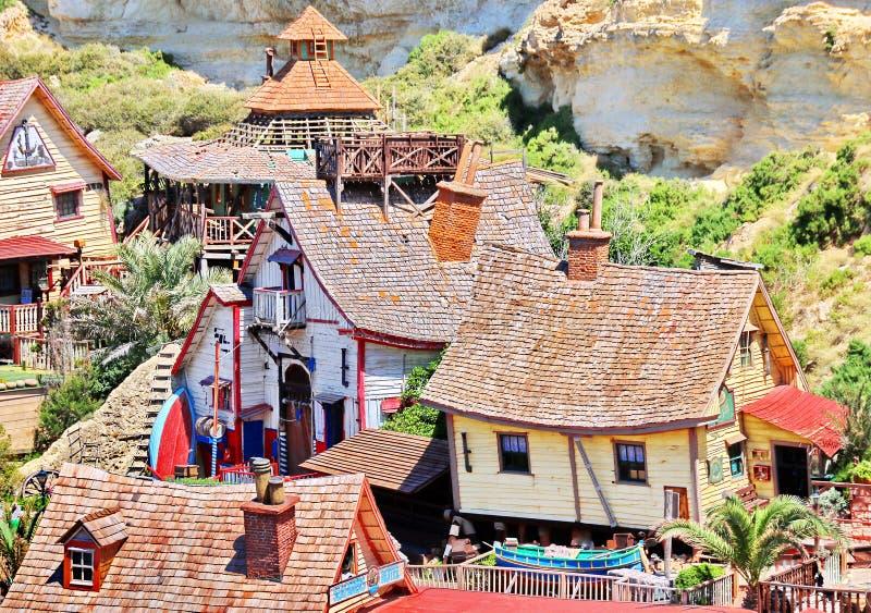 Деревня Popeye в Мальте стоковые фотографии rf