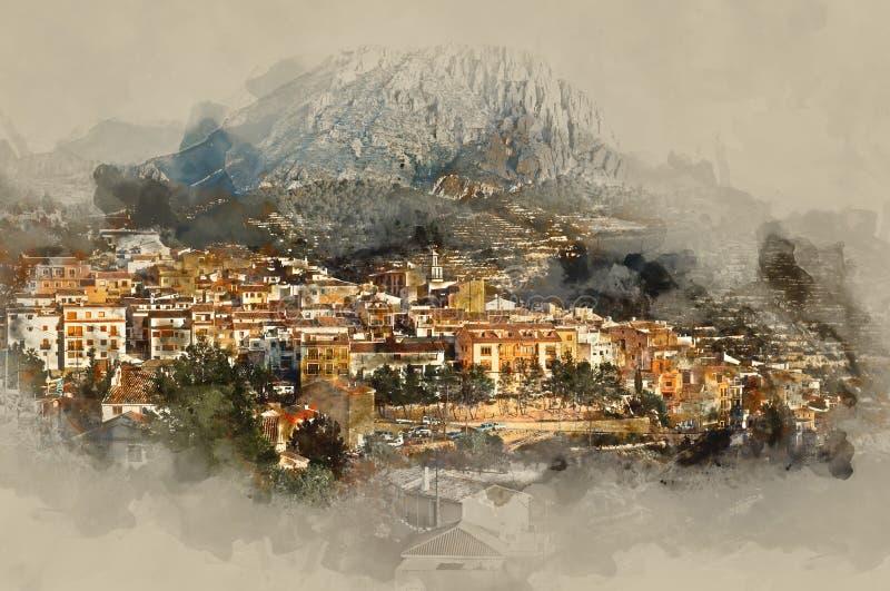 Деревня Sella иллюстрация штока