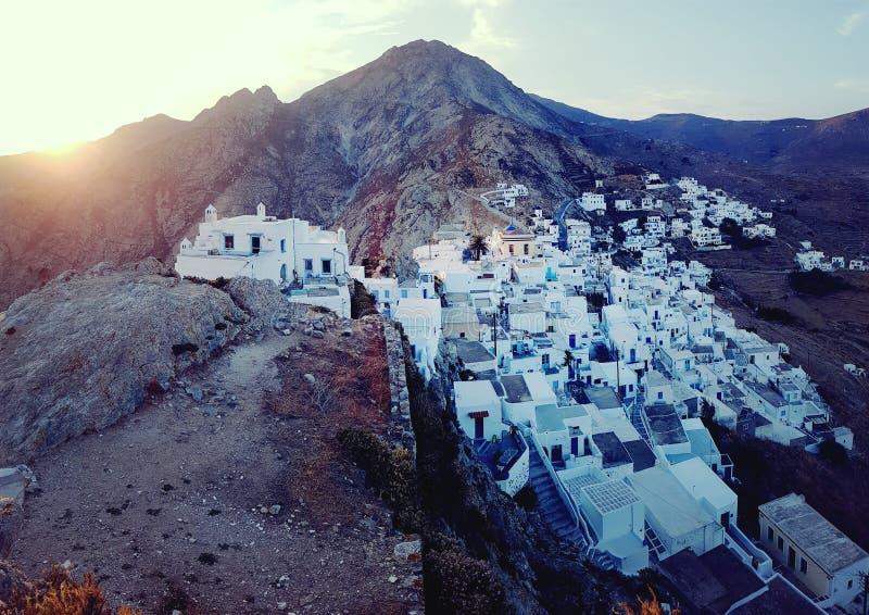 Деревня Serifos Chora стоковые изображения
