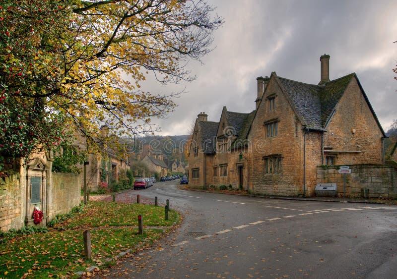 Деревня Stanton, Cotswolds стоковая фотография rf