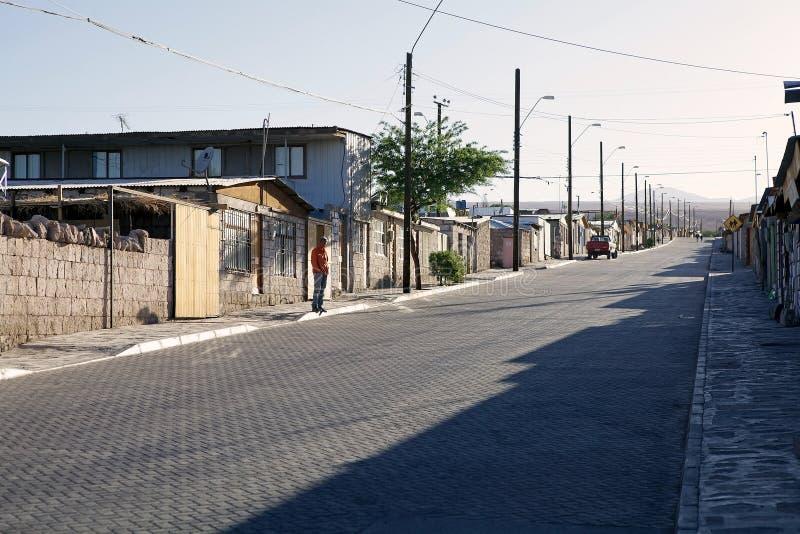 Деревня Toconao, Чили стоковое изображение rf
