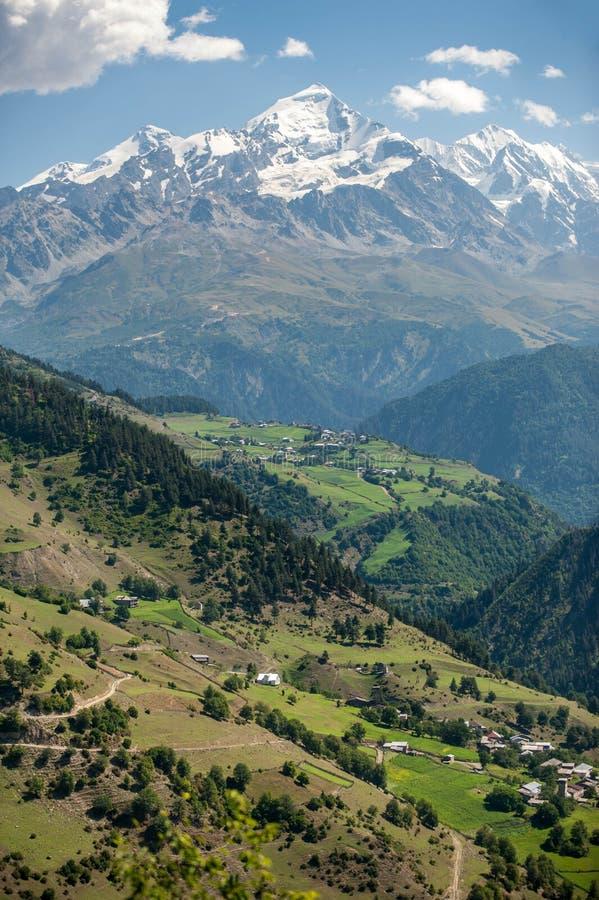 Деревня Ushguli Georgia стоковая фотография