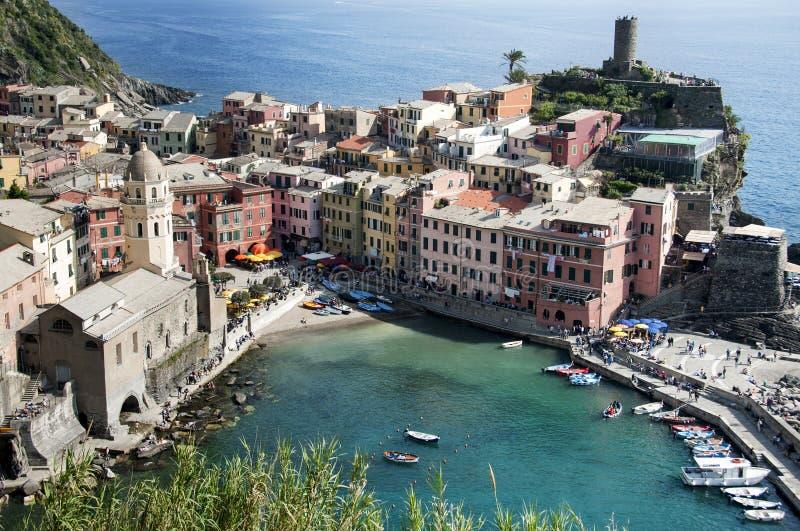 Деревня Vernazza - Cinque Terre стоковые изображения