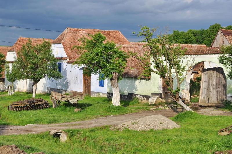 Деревня Viscri стоковая фотография
