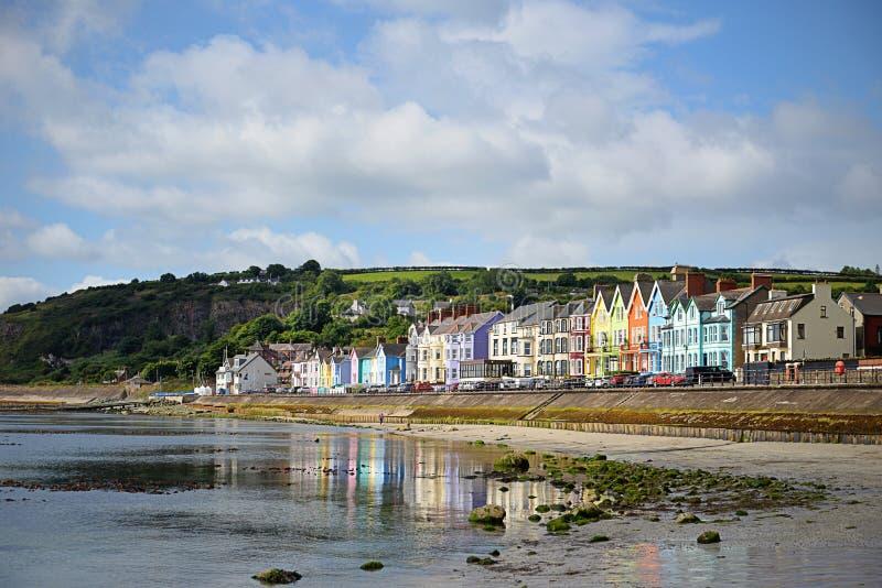 Деревня Whitehead, Северная Ирландия стоковое фото rf